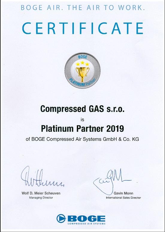 Boge Platinum Partner 2019