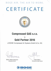 Boge Gold Partner 2016